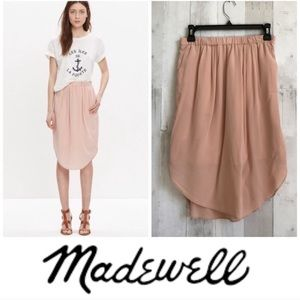 Madewell Silk Island Pink Skirt XS